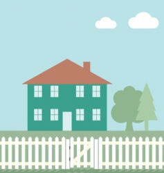 house fence vector image