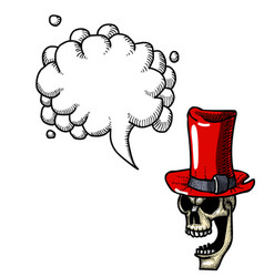 laughing skull in top hat-100 vector image vector image