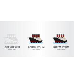 Logo steamboat vector