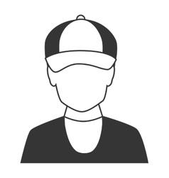 Male profile silhouette icon vector