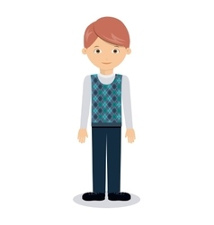 man character design vector image