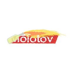 Molotov grunge scratched logo vector