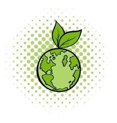 Natural world comics icon vector image