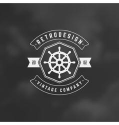 Nautical Retro Vintage Insignia Logotype vector image