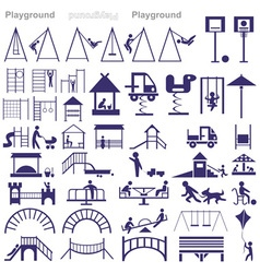 Playground icon vector