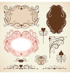 Set of elegance frames vector