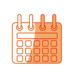 Silhouette calendar symbol icon design vector