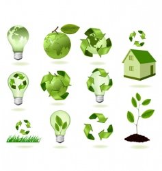 super set of ecology icons vector image
