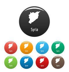 Syria map in black set simple vector
