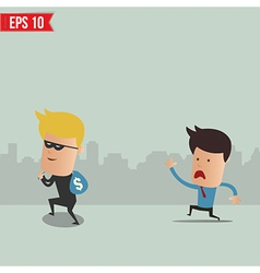Thief steal money - - eps10 vector