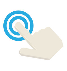 touching cursor icon cartoon style vector image
