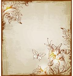 vintage background brown vector image vector image