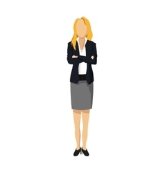 Woman character with suit icon vector