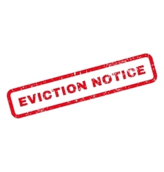 Eviction notice text rubber stamp vector