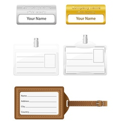 Identification card 06 vector