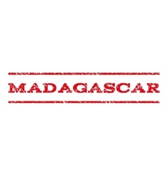 Madagascar watermark stamp vector