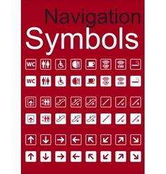 Navigation Symbols Set vector image