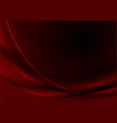 Dark red abstract silk waves background vector