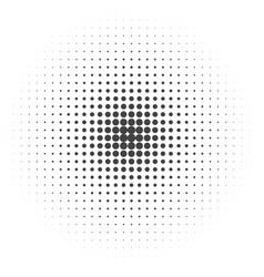 halftone dotted vintage retro round gradients vector image