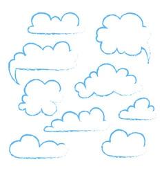 Set of speech bubble Cloud vector image