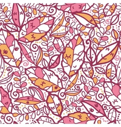 Cartoon Autumn Leaves Seamless Pattern background vector image