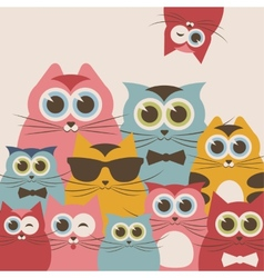 Cats family vector