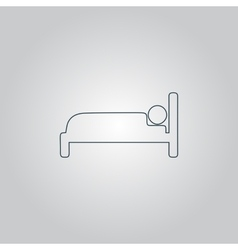 Human in bed sign icon vector