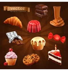 Confectionery icons vector