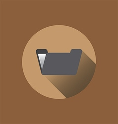 0502br flat folder icon vector