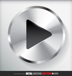 Circle metal play button applicated for html and vector