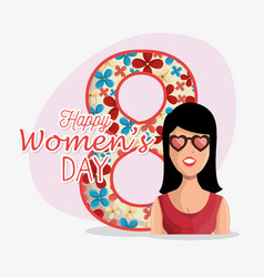 8 march women day eight vector