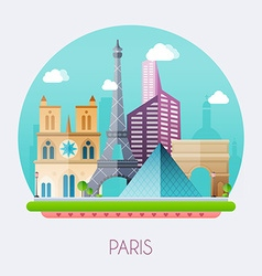 Paris skyline and landscape of buildings and vector
