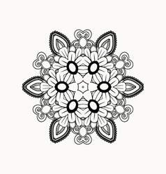 Black and white abstract pattern with leaves vector image