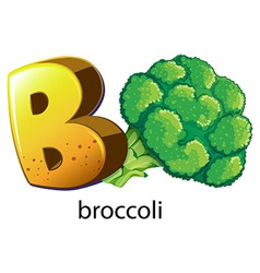 A letter b for brocolli vector