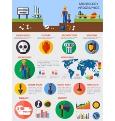 Archeological infographics with elements of vector