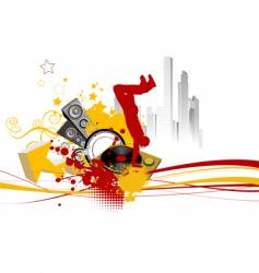 Break dance background vector