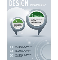 Brochure design with infographic elements vector image