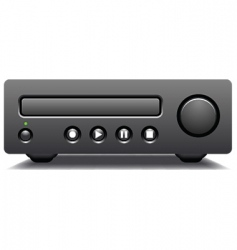 cd and dvd player vector image vector image