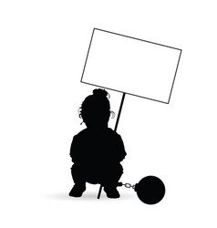 Child silhouette with transparent and prision ball vector