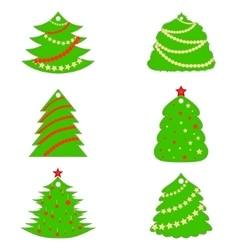 Christmas trees made as car fresheners vector