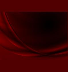 Dark red abstract silk waves background vector