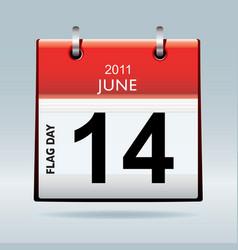 flag day calendar vector image vector image