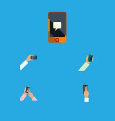 flat icon touchscreen set of touchscreen vector image vector image