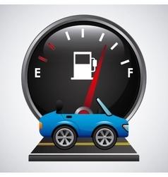 Fuel meter vector