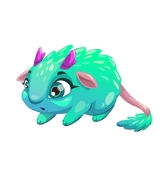 Funny cartoon funny fantasy animal vector
