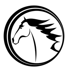 Horse tattoo character in a circle vector image