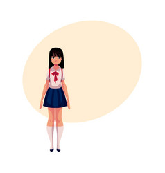 japanese teenage schoolgirl in typical uniform vector image