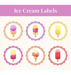 Labels with ice cream vector image vector image