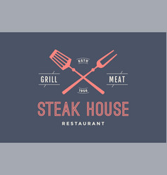 logo of steak house vector image vector image