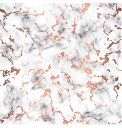 marble texture design with copper splatter spots vector image